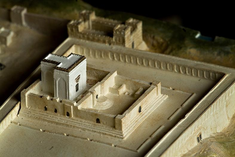 Picture of Herods temple 33 AD from the South East